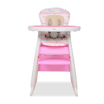 vidaXL Trys viename sulankstoma vaikiška kėdutė, rožinė