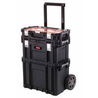 Keter Dėžė įrankiams su Connect Trolley ir Rolling sistemomis, juoda