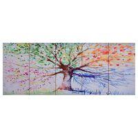 vidaXL Paveikslas ant drobės, įvairių spalvų, 150x60cm, lietas medis