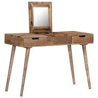 vidaXL Kosmetinis staliukas, 112x45x76cm, mango medienos masyvas