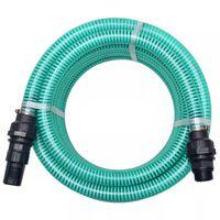 vidaXL Siurbimo žarna su jungtimis, žalia, 4 m, 22 mm