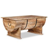 vidaXL Kavos staliukas, tvirta mango mediena, 88x50x40cm