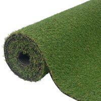 vidaXL Dirbtinė žolė, 1x15m/20mm, žalios spalvos
