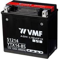 VMF Powersport Liquifix akumuliatorius, 12 V 12 Ah MF YTX14-BS