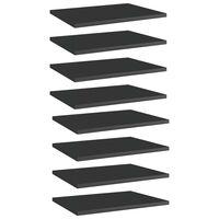 vidaXL Knygų lentynos plokštės, 8vnt., juodos, 40x30x1,5cm, MDP