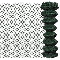 vidaXL Tinklinė tvora, žalia, 1,25x15m, plienas
