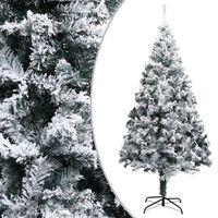 vidaXL Dirbtinė Kalėdų eglutė su sniegu, žalios spalvos, 180cm, PVC