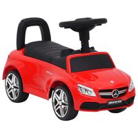 vidaXL Paspiriamas vaikiškas automobilis Mercedes-Benz C63, raudonas