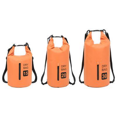 vidaXL Vandeniui atsparus krepšys su užtrauktuku, oranžinis, PVC, 30l