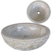 vidaXL Kriauklė, kreminė, 40 cm, marmuras