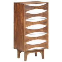 vidaXL Komoda su stalčiais, 44x35x90cm, akacijos medienos masyvas