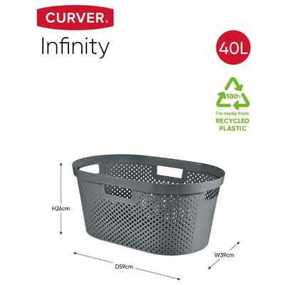 Curver Infinity Skalbinių pintinės ir krepšio rinkinys, antracito