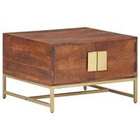 vidaXL Kavos staliukas, medaus rudas, 67x67x45cm, akacijos masyvas