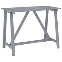 vidaXL Sodo baro stalas, pilkas, 140x70x104cm, akacijos masyvas