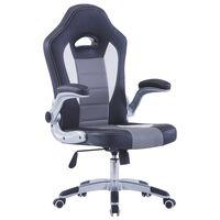 vidaXL Žaidimų kėdė, juoda, dirbtinė oda
