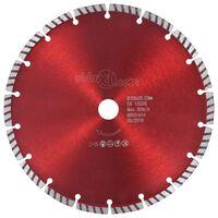 vidaXL Turbo deimantinis pjovimo diskas, plienas, 230mm