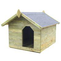 vidaXL Sodo šuns būda su atidaromu stogu, impregnuota pušies mediena