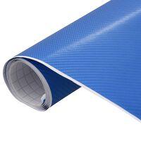 vidaXL Automobilio plėvelė, mėlynos spalvos, 200x152cm, 4D