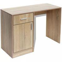 vidaXL Rašomasis stalas su stalčiumi ir spintele, ąžuolas, 100x40x73 cm