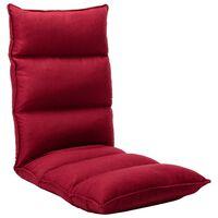 vidaXL Sulankstomas čiužinukas-kėdė, vyno raudonos spalvos, audinys