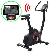 vidaXL Magnet. treniruoklis dviratis su pulso matavimu, programuojamas