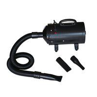 vidaXL Plaukų džiovintuvas šuniui su 3 antgaliais, juodas, 2400W