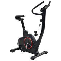 vidaXL Magnetinis treniruoklis dviratis su pulso matavimu, XL