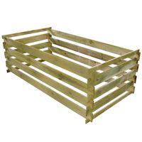 vidaXL Komposto dėžė iš lentų, impregnuota pušies mediena, 160x80x58cm