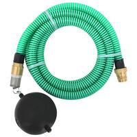 vidaXL Siurbimo žarna su žalvarinėmis jungtimis, žalia, 4m, 25mm