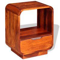 vidaXL Naktinis staliukas su stalčiumi, rausv. dalberg., 40x30x50cm