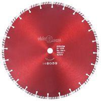 vidaXL Turbo deimantinis pjovimo diskas, plienas, 350mm