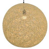 vidaXL Pakabinamas šviestuvas, kreminės sp., sferinis, 55cm, E27 lemp.