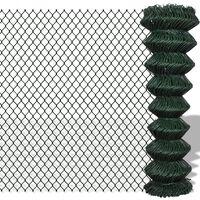 vidaXL Tinklinė tvora, žalia, 1,5x25m, plienas