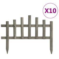 vidaXL Vejos pertvaros, 10vnt., 4,4m, eglės mediena