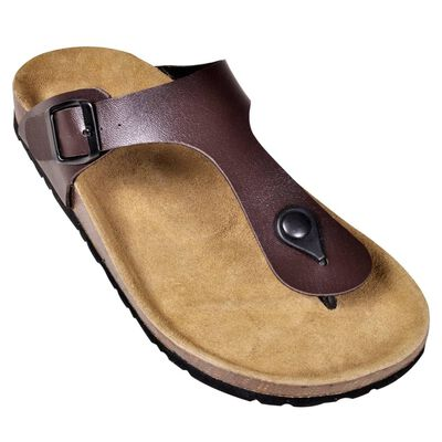 vidaXL Moteriški kamštiniai sandalai, rudi, 36 dydžio