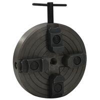 vidaXL Medienos griebtuvas, 4 žiotys, juodas, 150x63mm, plienas