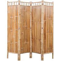 4 Dalių Kambario Pertvara iš Bambuko