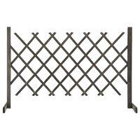 vidaXL Sodo treliažas-tvora, pilkos spalvos, 120x90cm, eglės masyvas
