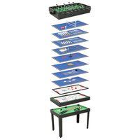 vidaXL Universalus žaidimų stalas, 15-1, juodos spalvos, 121x61x82cm