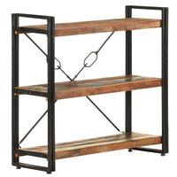 vidaXL Knygų spinta, 3 aukštų, 90x30x80cm, perdirbtos medienos masyvas