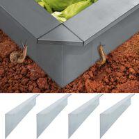 vidaXL Plokštės tvorai nuo sraigių, 4vnt., 170x7x25cm, plienas, 0,7mm