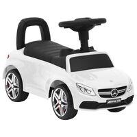 vidaXL Paspiriamas vaikiškas automobilis Mercedes-Benz C63, baltas