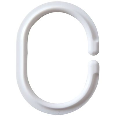 RIDDER Dušo užuolaidos žiedai, balti