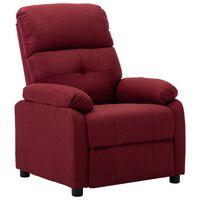 vidaXL Atlošiamas krėslas, raudonojo vyno spalvos, audinys
