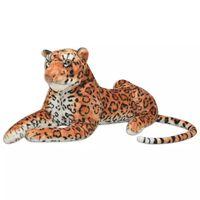 vidaXL Žaislas leopardas, pliušinis, rudas, XXL