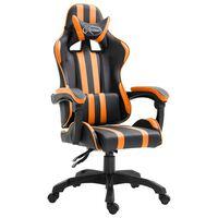 vidaXL Žaidimų kėdė, oranžinė, dirbtinė oda