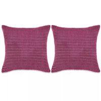 vidaXL Pagalvėlių rinkinys, 2vnt., veliūras, 45x45cm, rožinė spalva