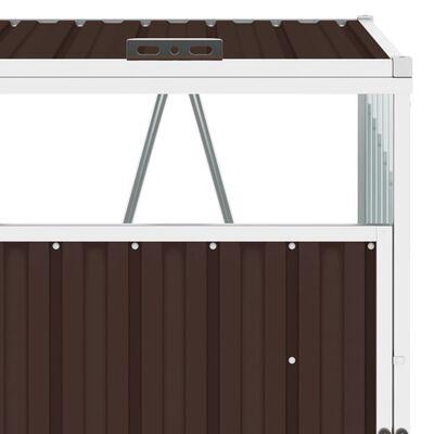 vidaXL Konteinerio stoginė, rudos spalvos, 72x81x121cm, plienas