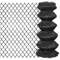 vidaXL Tinklinė tvora, pilka, 25x0,8m, plienas