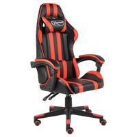 vidaXL Žaidimų kėdė, juodos ir raudonos spalvos, dirbtinė oda